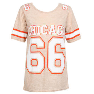 View Item Beige Chicago 66 Print Tee